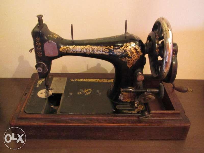 Шевна машина Сингер от 1908 г. в оригинална кутия.