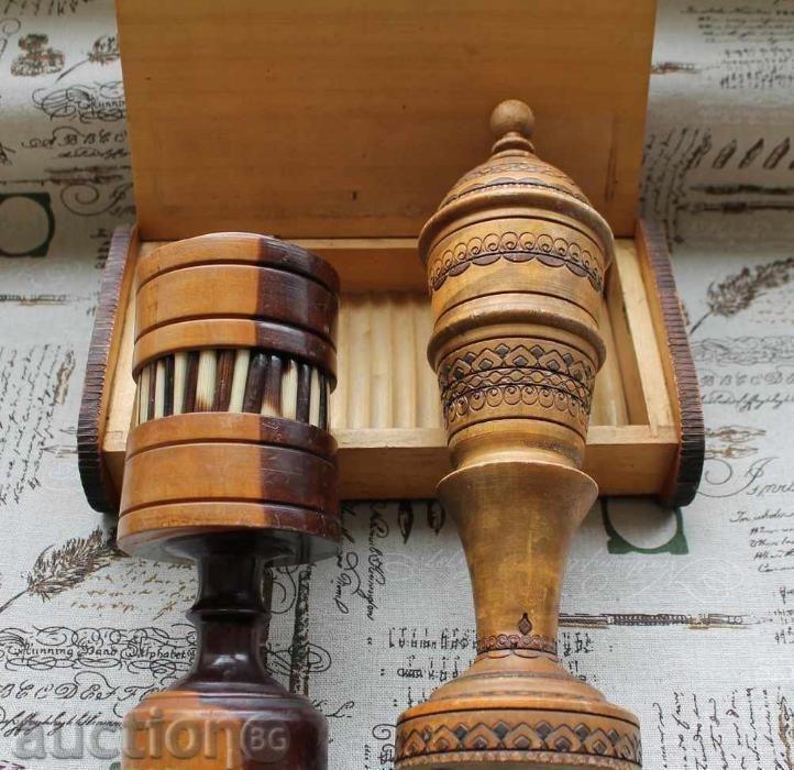 Лот дървени предмети