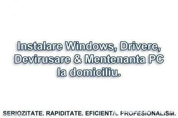 Instalare Windows Drivere Programe Totul la numai 30 LEI!!