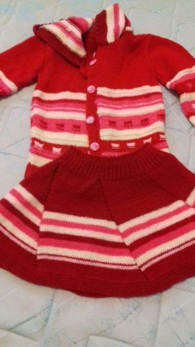 Plovar și fustița tricotate