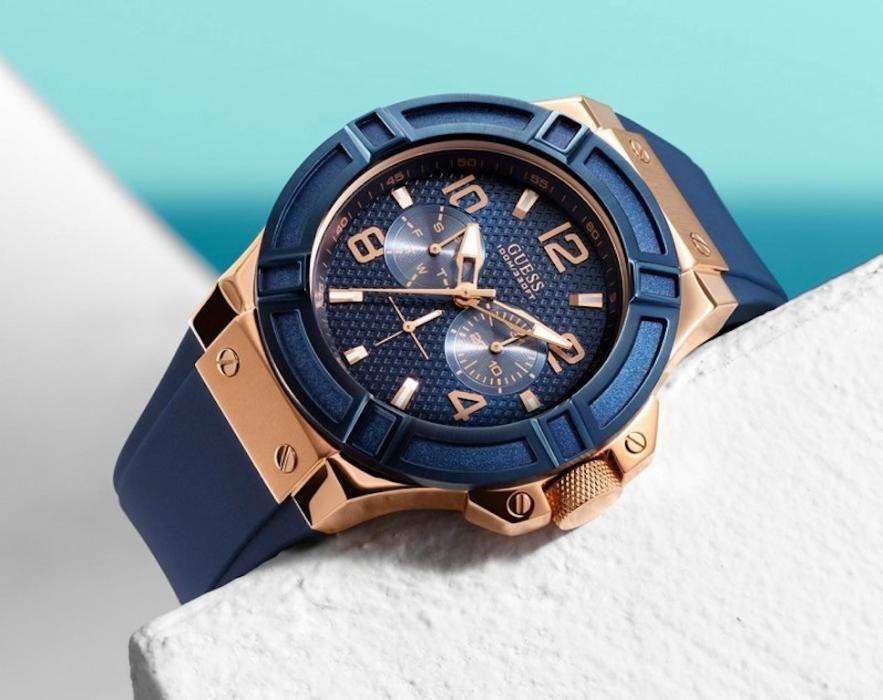 Guess Steel Rigor W0247G3-Mens wrist watch