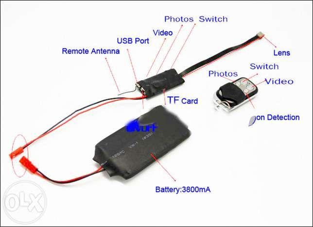Camera ascunsa Full HD filmeaza pana la 12 ore telecomanda spy spion