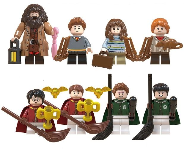 Set 8 Minifigurine tip Lego Harry Potter cu Hagrid
