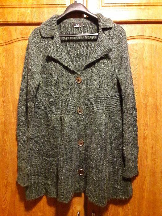 Jacheta pulover noua din lana naturala, marimea L