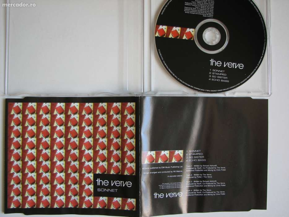 The Verve - Sonnet CD Audio Maxi Single