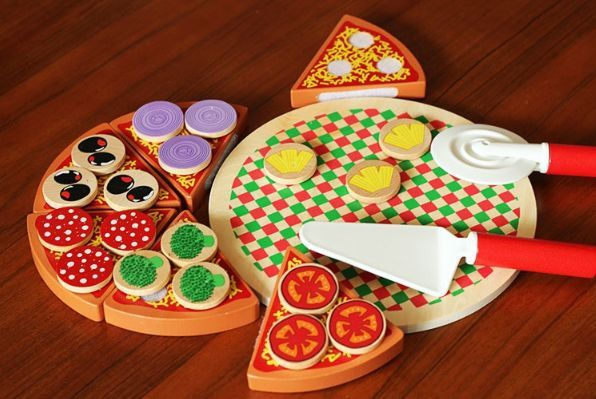 Wood Pizza с лепки за деца всички дървени играчки на хубави цени гр. Бургас - image 1