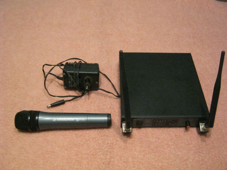 Microfon Sennheiser wireless+Audio technica receiver