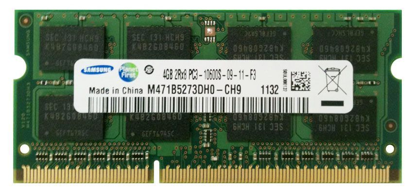 Ram laptop Samsung 4GB PC3-10600 DDR3 1333Mhz M471B5273DH0 PC3 1.5V