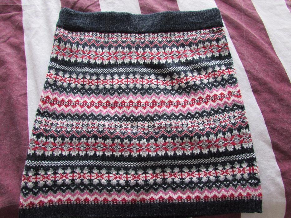 Зимна плетена пола размер 36