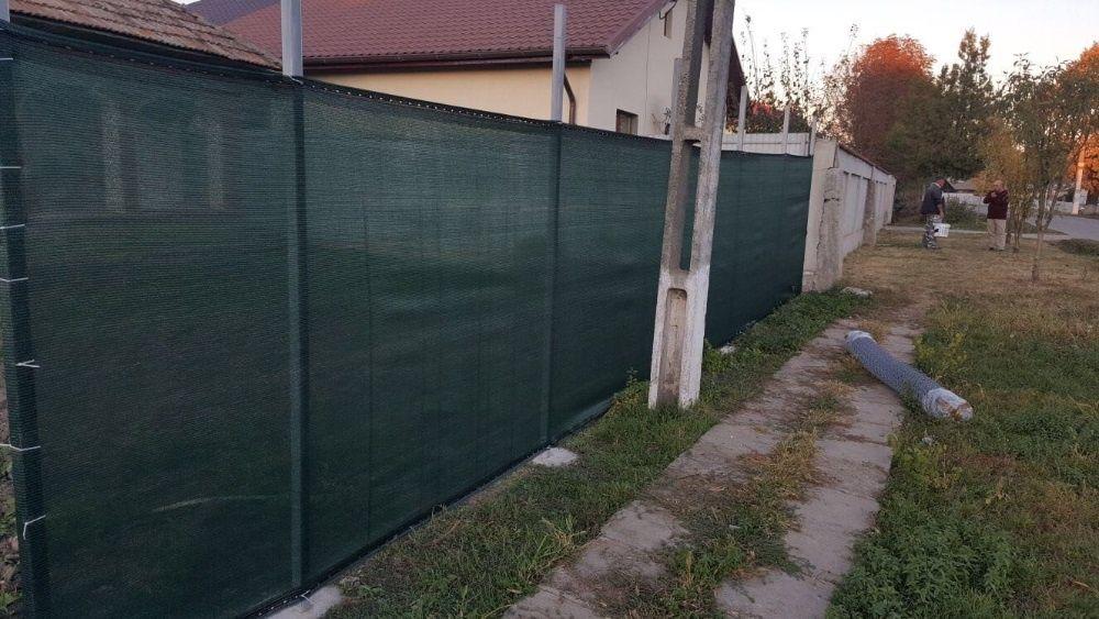 Plasa protectie/umbrire gard, rola: 2 x 50ml, grad umbrire 90%