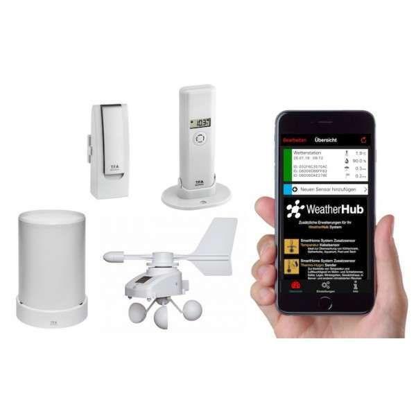 WEATHERHUB–Метеосистема с Т/Х сензор, ветромер и дъждомер