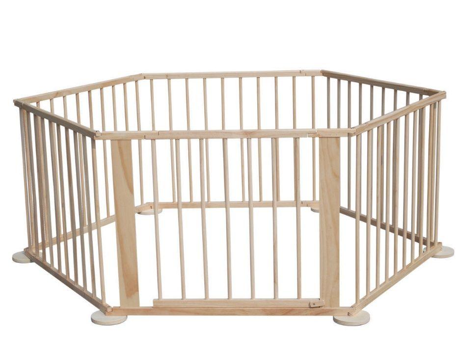 Продавам нова дървена детска Сгъваема ограда/кошара за игра 6/ 8 части