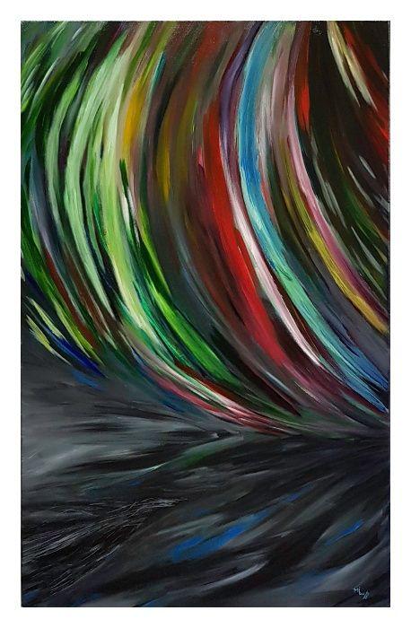 "Tablou ""Birds"" pictura in acril 100/60cm"