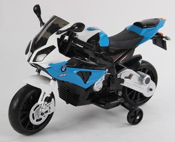 Motocicleta electrica pentru copii BMW albastra cu acumulatori
