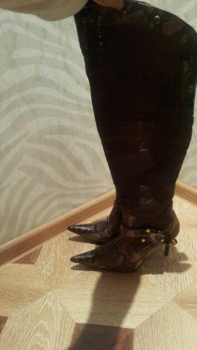 Сапоги ботфорты кожаные, новые