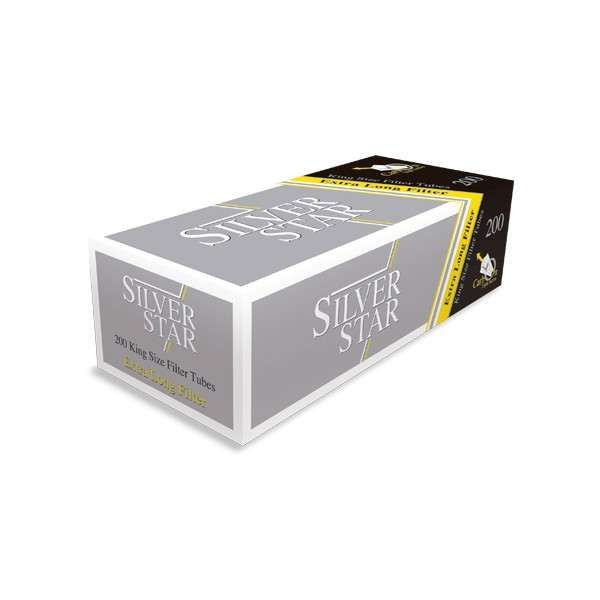Tuburi Tigari Silver Star Carbon 24 mm pentru injectat tutun