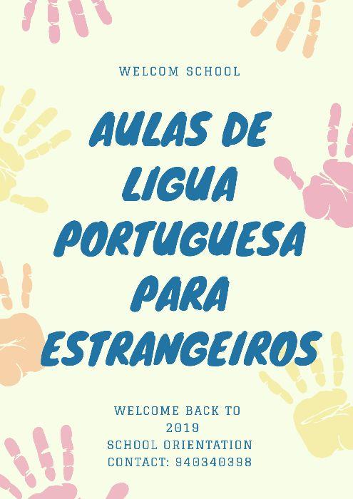Aulas de lingua portuguesa