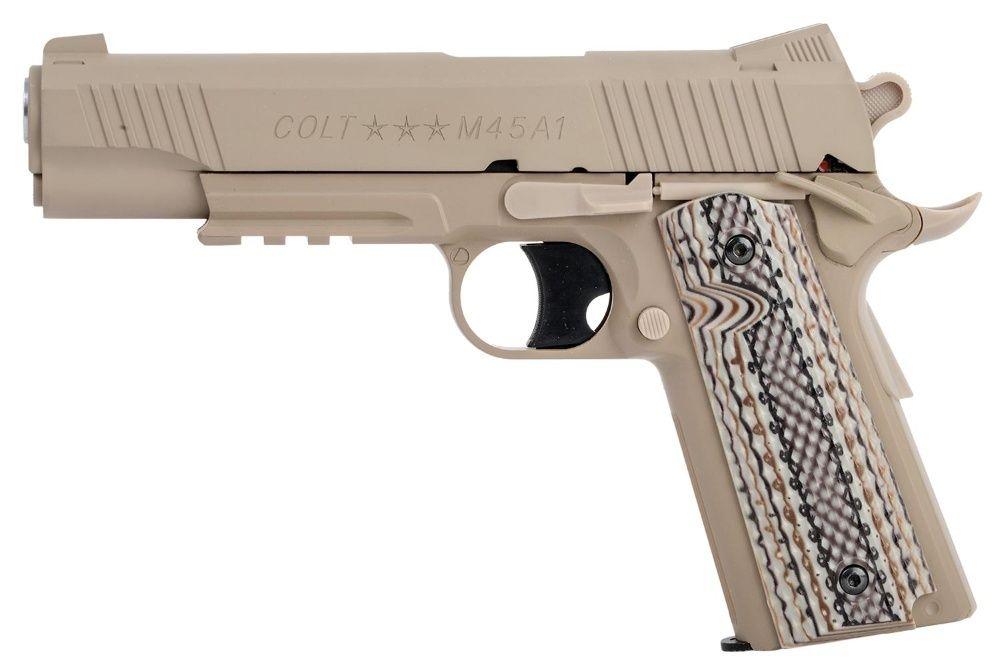 Pistol Airsoft Colt 1911 RAIL GUN DESERT TAN