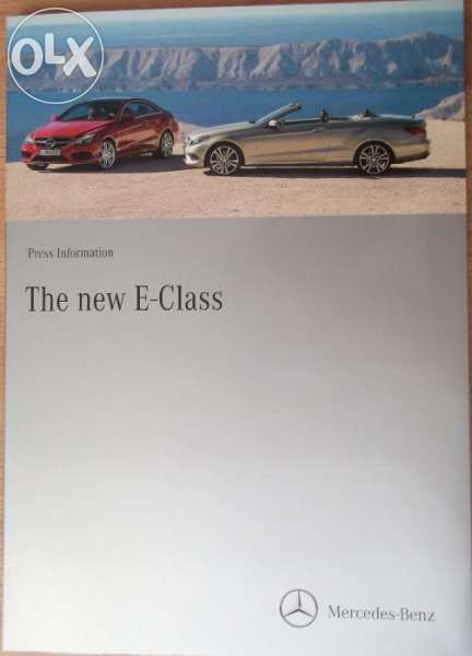 прес кит книга списание брошура каталог Mercedes-Benz E-Class Cabrio
