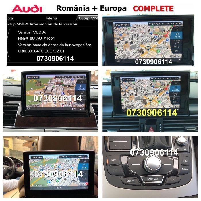 Navigatie Audi DVD SD Harti MMI 3G MMI 2G 2018 A4 A5 A6 A7 A8 Q3 Q5 Q7