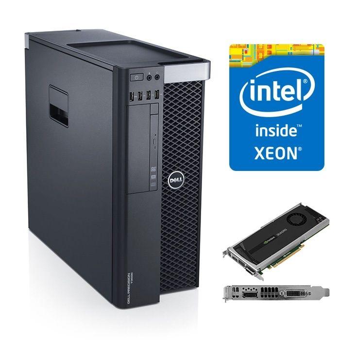 DELL Precision T3600- OCTA E5-2665/ 16 G ddr3/ SSD 128 / Quadro 4000