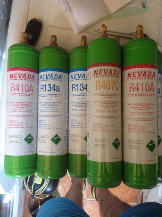 Butelie cu freon R422 R134 R407 R410 R404 agent refrigerant frigorific