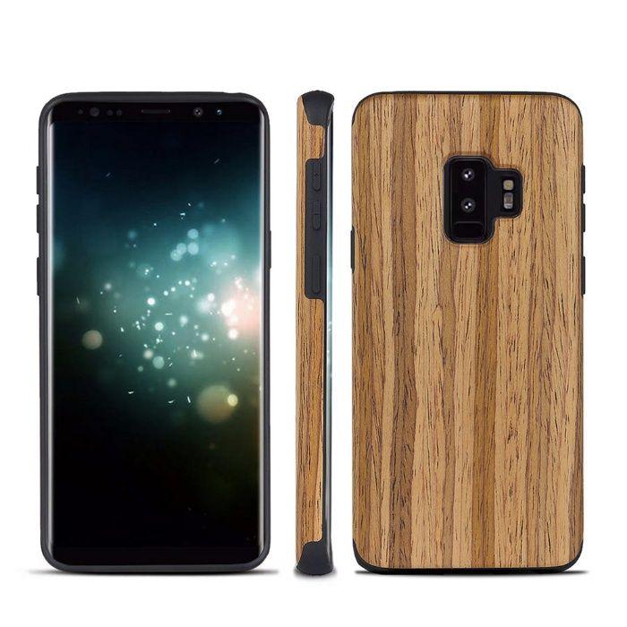 WOOD дизайн дървен кейс калъф с каучук SAMSUNG Galaxy S9