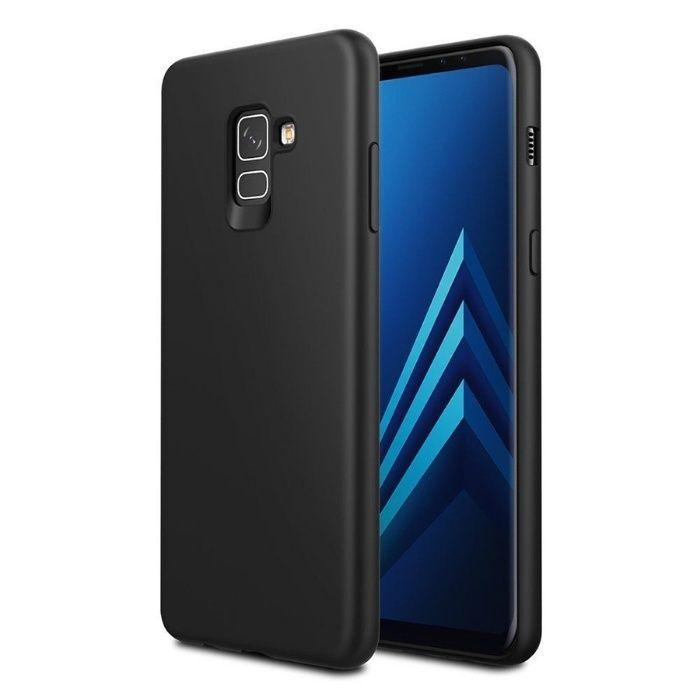 Samsung A6 A8 2018 Pachet Husa Silicon Neagra si Folie Sticla Securiza