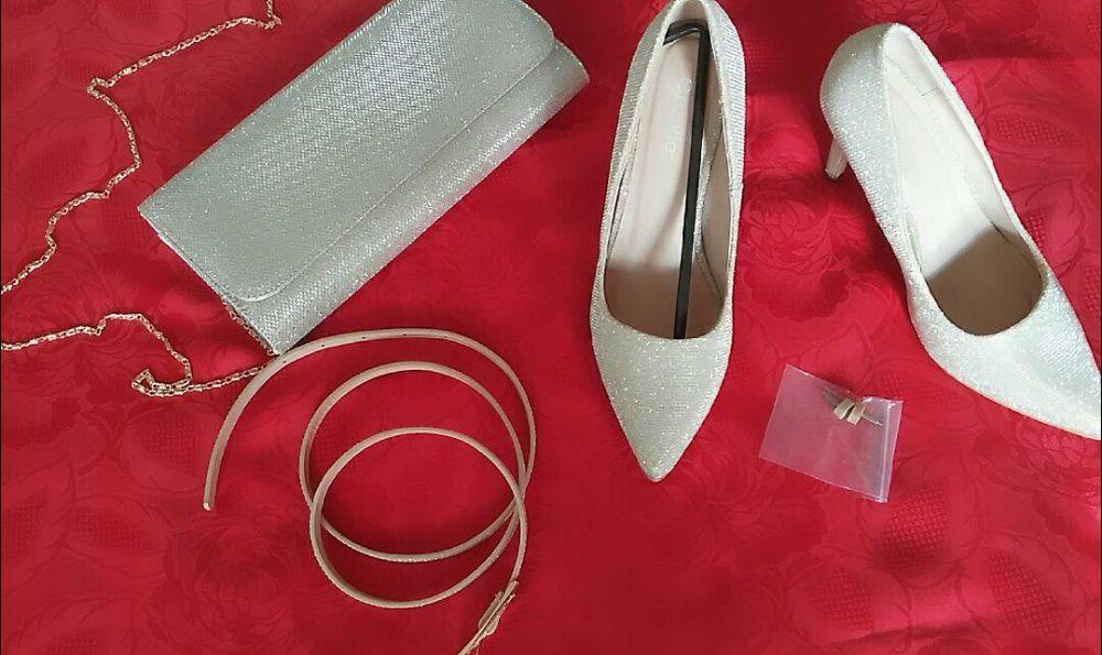 Pantofi eleganti + geanta superba+ curelusa (+flecuri rezerva)