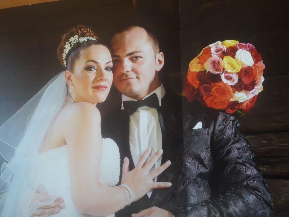 Vanzare sacou mire nunta evenimente maro inchis impecabil marimea 54
