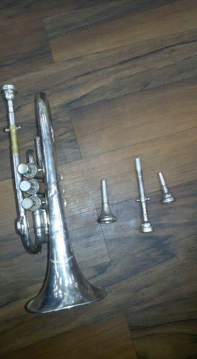 Trompeta Besson foarte veche antica antichitati antichitate de epoca