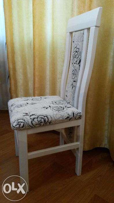 Scaun lemn masiv model 1 alb