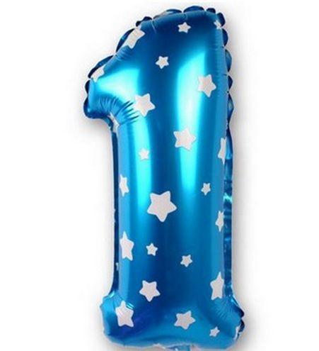 Balon cifra 1,2,3,4 roz/albastru
