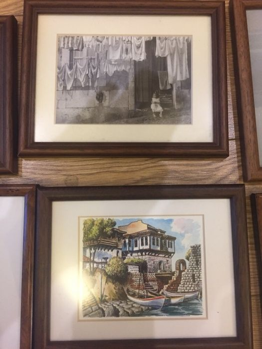 Уникални картини в дървени стилни рамки и стъкло, 50лв на брой