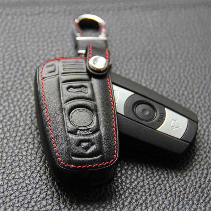 Husa piele pentru cheie BMW seria 1,3,5,6,7, E90 E92 E93 SMART