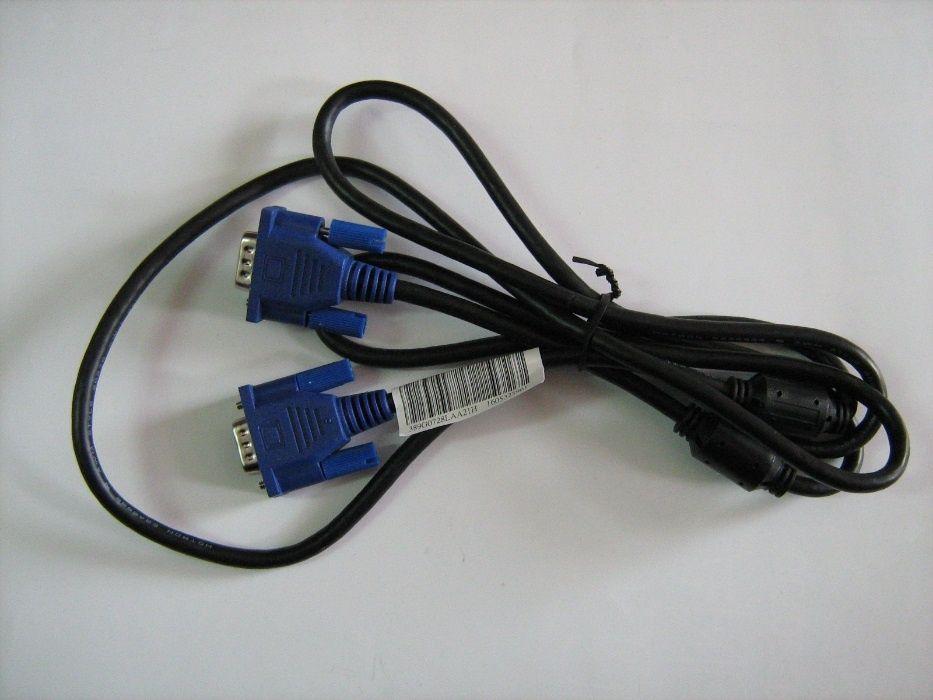 Кабел за монитор VGA-VGA с конектори D-SUB male 15 pin мъжки и противо