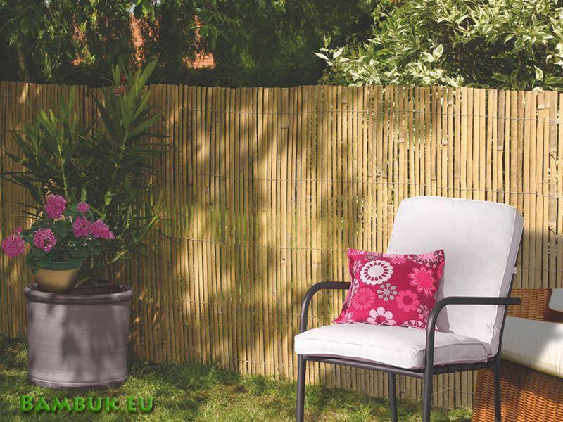 Ограда от цепен бамбук / Пано от бамбук