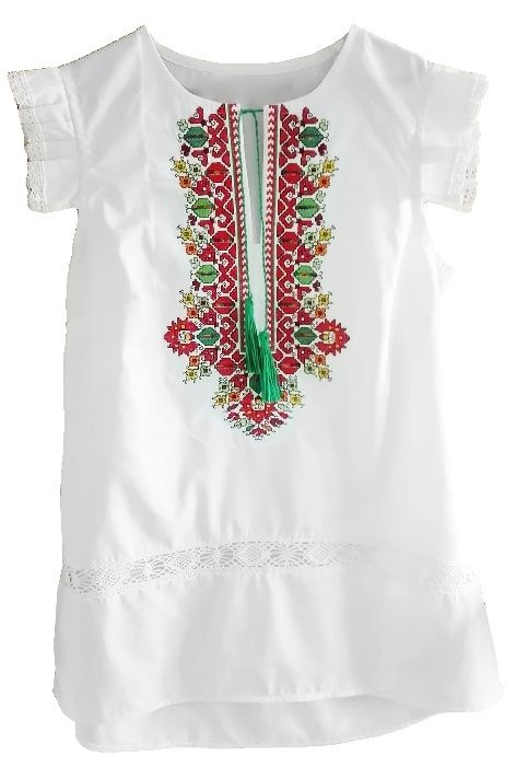 Дамска риза с бродерия и дантела