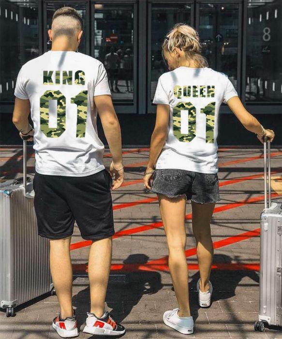За ВЛЮБЕНИ! LOVE Military тениски КАМУФЛАЖ принт! Или с ТВОЯ идея!