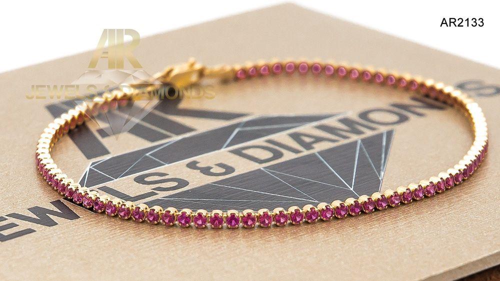 Bratara Aur 14 K Tennis model nou unisex ARJEWELS(AR2133)