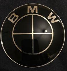 Emblema Logo Capota BMW E30 E34 E36 82mm NEAGRA full black M3