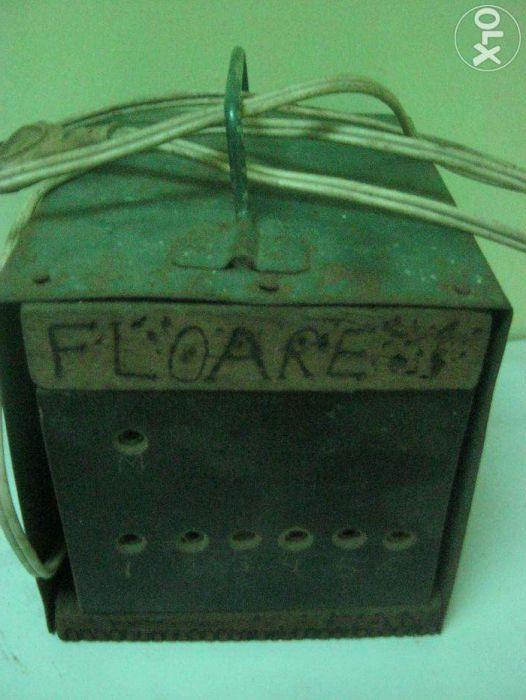 Pirogravare lemn, aparat electric de scris,pictat pe lem