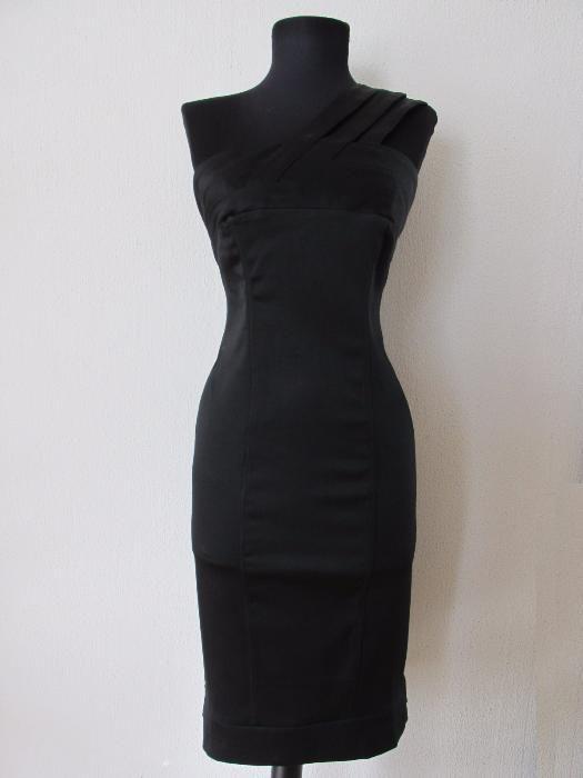 Бандажна стягаща черна рокля S/M