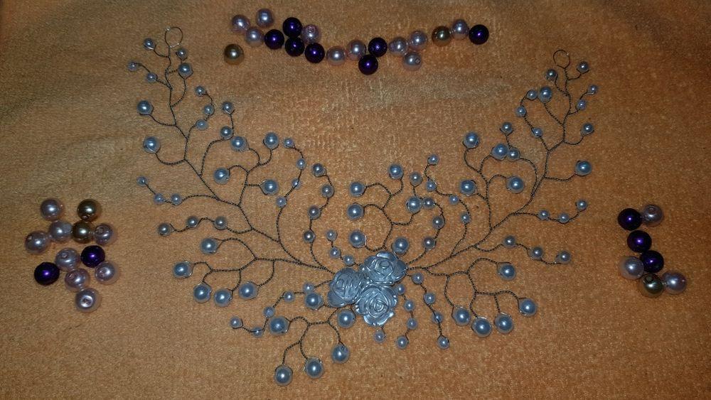 Accesoriu par mireasa flexibil hand made nunta perle etc