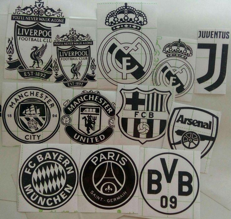 Наклейки на авто логотипы футбольных клубов