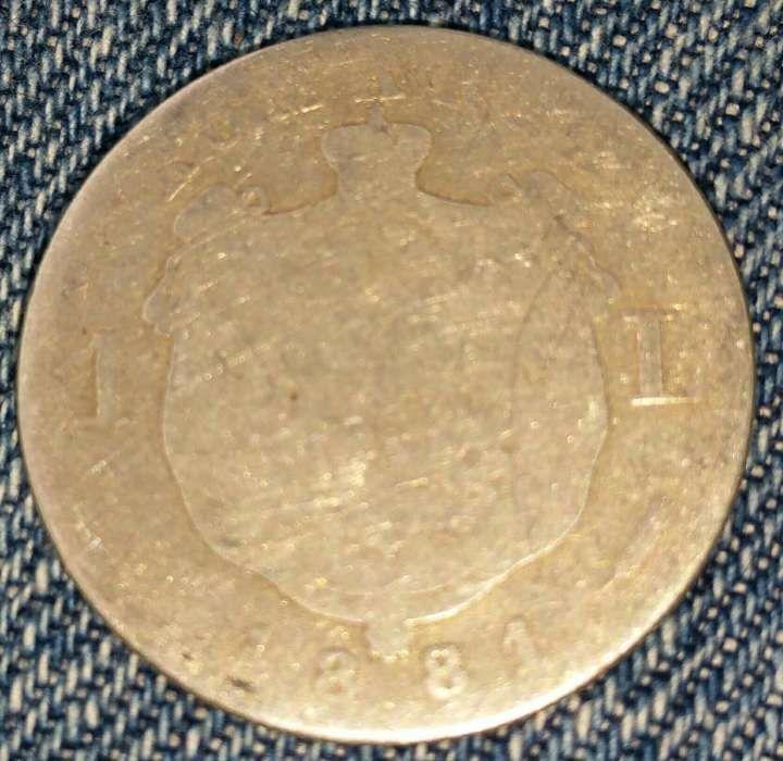 Moneda argint 1 leu 1881
