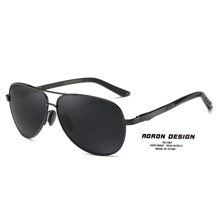 AORON DESIGN óculos de sol polarizados masculinos