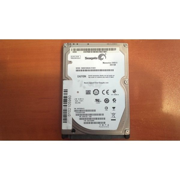 hard disk laptop sata seagate- 250gb 5400rpm
