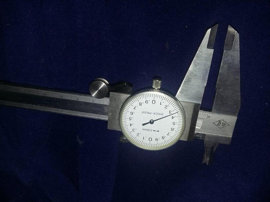 Subler nou cadran,subler original 200x0,02 mm,subler cu ceas,adancime