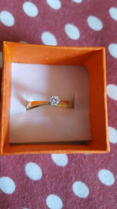 Inel aur 18k cu diamant 0,18 ct